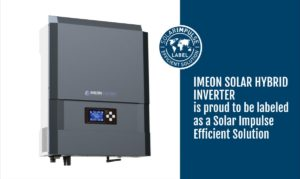 Imeon solar nhybrid inverter is proud to be labeled as a Solar Impulse Efficient Solution